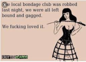 BDSM Club Robbed - sounds like a party to me